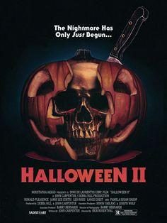 Halloween 2 horror movie poster Slasher