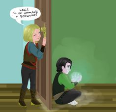 Loki, do you want to build a snowman? Thor/Frozen crossover ---- haha.... ha.... *starts crying*