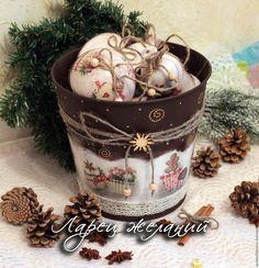 Купить Набор ёлочных игрушек в ведерке Sweet holiday - новогодний подарок, новогодний сувенир