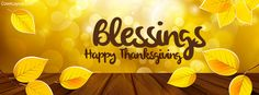Blessings Happy Thanksgiving Facebook Cover coverlayout.com