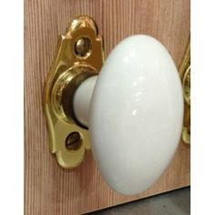 Bouton de fenêtre porcelaine Blanc/Laiton