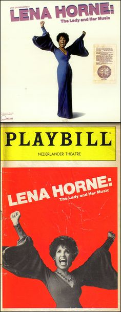 The multiple Grammy® Award-winning cast recording and Playbill from Lena Horne's 1981 Tony® Award-winning Broadway show, Lena Horne: The Lady and Her Music.