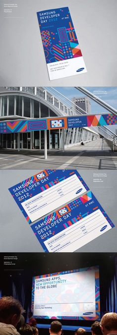 Samsung Developers Brand eXperience Design on Behance branding Corporate Event Design, Event Branding, Spa Branding, Identity Branding, Identity Design, Brochure Design, Conference Branding, Design Conference, Leaflet Design