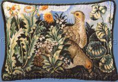 Rare Wilson Unicorn Tapestries Needlepoint Kit Partridge Pair Needlepoint Kits, Needlepoint Canvases, Unicorn Tapestries, Tapestry, The Cloisters, Art Boards, Needlework, Vintage World Maps, Partridge