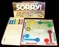 1972 Sorry game by Parker Brothers