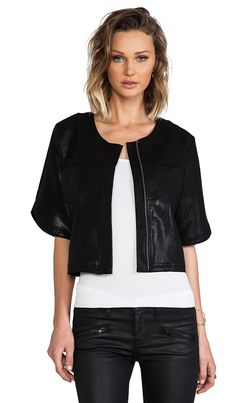 Krisa short sleeve jacket (similar style worn here http://chicityfashion.com/black-summer-look/)