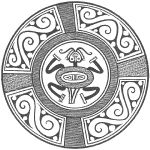 """Pre-Columbian Coclé pottery design from the book """"Pre-Columbian Designs From Panama"""
