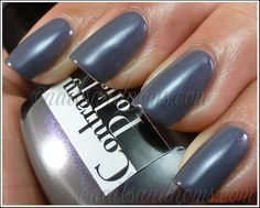 Contrary Polish Purple Smoke is a blue grey with purple and blue shimmer