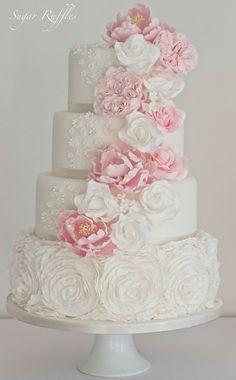 wedding cake idea: Sugar Ruffles