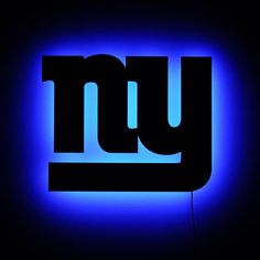 New York Giants Wall Light - NY Giants Logo Night Light for Football Fans Buffalo Bills Football, New York Giants Football, My Giants, Football Themes, Football Fans, Sport Football, Sports Teams, New York Giants Logo, Go Big Blue