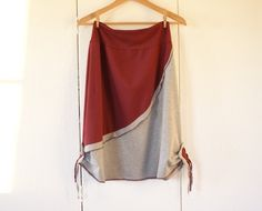 I love the deep red and gray, and the style is so cute!  by Thongbaitatong on Etsy