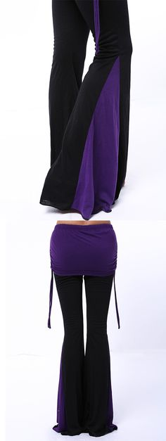 Chic Elastic Waist Loose-Fitting Hit Color Women's Pants