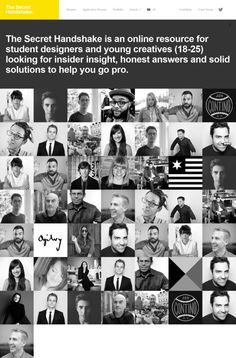 The Secret Handshake - Solutions to help you go pro - Webdesign inspiration www.niceoneilike.com