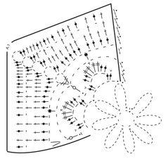 Agarrador de ganchillo DROPS con aplicaciones con flor, en Paris. Patrón gratuito de DROPS Design.
