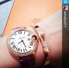 Cartier Watch Hermes Bracelet