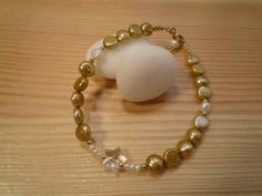 Handmade Kids' Golden Freshwater Pearls Bracelet by urbaneprincess