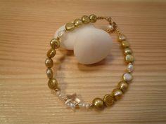 Handmade Kids' Golden Freshwater Pearls Bracelet by urbaneprincess