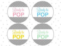 Klaar om pop stickers - Ready to pop etiketten - Ready to pop babydouche - Shes…