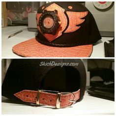 52c98aec449 Black and Orange Buck50 Hat available at http   SkichDesigns.com Wing Dings