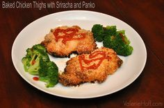 Baked Chicken Thighs with Sriracha and Panko