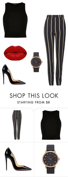 """Monday"" by julietoft on Polyvore featuring Topshop, River Island, Christian Louboutin, Marc Jacobs and Winky Lux"