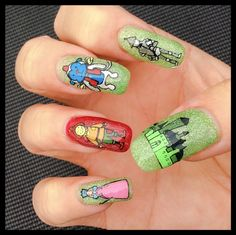 """""""Wizard Of Oz"""" inspired Nail Art by """"Lorena Style""""."""