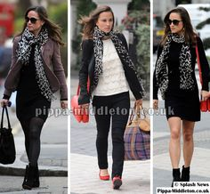 Three SR outfits, complete with Alice Temperley scarf. And Pippa Middleton.