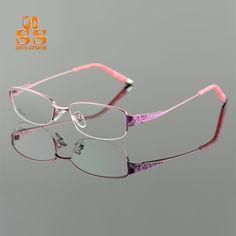 Brand Designer High-end Ultralight Titanium Alloy Glasses Frame Women  Fashion No Diopter Optics Eyewear 7e5529e69ddf
