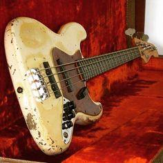 a very worn J bass