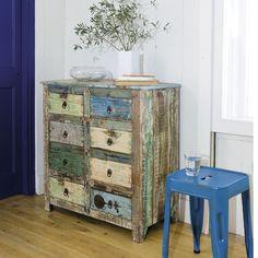 Cabinet de rangement en bois recyclé L 80 cm Calanque | Maisons du Monde