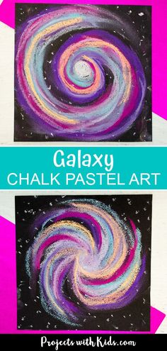 This chalk pastel galaxy art project is out of this world! Kids will love using … This chalk pastel galaxy art project is out of this world! Kids will love using easy chalk pastel techniques to create this stunning galaxy craft. Chalk Pastel Art, Chalk Pastels, Chalk Art, Chalk Crafts, Diy Crafts, Decor Crafts, Classroom Art Projects, Art Classroom, Projects For Kids