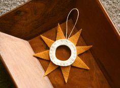 modern star/ sun ornament