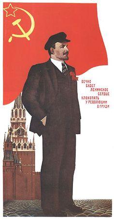 """""""Forever will Lenin's heart beat inside the Revolution's chest""""  soviet JAN16"""