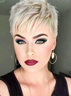 Blonde Hairstyles For Short Hair Ideas 10 Sassy Haircuts, Short Pixie Haircuts, Cute Hairstyles For Short Hair, Short Hair Cuts For Women, Trending Hairstyles, Pixie Hairstyles, Short Hair Styles, Blonde Hairstyles, Punk Pixie Haircut
