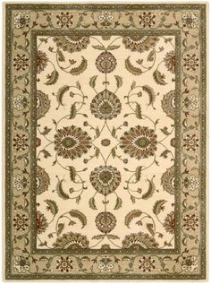 """Nourison Closeout! Area Rug, Somerset Collection ST60 Tabriz Ivory 2'3"""" x 8' Runner Rug"""