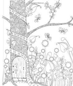 Tangled Gardens Coloring Book: 52 Intricate Tangle Drawings to Color with Pens, Markers, or Pencils: Jane Monk Garden Coloring Pages, Blank Coloring Pages, Colouring Pics, Doodle Coloring, Printable Coloring Pages, Coloring Books, Colorful Drawings, Colorful Pictures, Zentangle