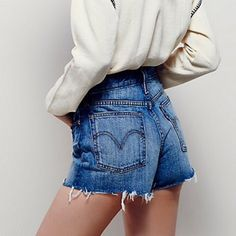"Free People NWT Levi's cut off shorts Brand new, with tags! Still in stores. Free People's Levi high-rise cutoff short. I actually have two sizes 25 and 26. Color is ""Buena vista light"" and shorts are button-fly. Inseam is 2.5""! Free People Shorts Jean Shorts"
