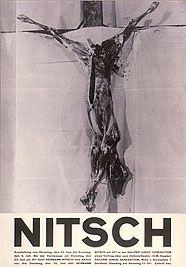 Hermann Nitsch »MANIFEST das lamm«, 1964, Ausschnitt eines Ausstellungsplakates in der Galerie Junge Generation, Wien, 23.06. - 05.07.1964
