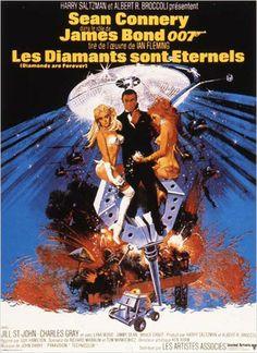 Les Diamants sont éternels : affiche Guy Hamilton, Ian Fleming, Sean Connery