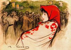La Verbena - Sunday Street Party , ramon Casas i Carbó