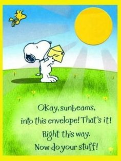 Snoopy. ..best wishes!
