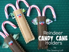 Looking for your next project? You're going to love Reindeer Candy Cane Holder by designer The Sewing Loft. - via @Craftsy