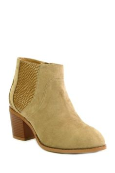 Textured Block Heel Boot