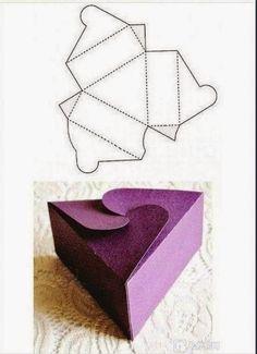 8 Modelos de caixinhas com moldes - * Decoração e Invenção *