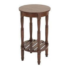 Woodland Imports 9622 Round Wooden End Table
