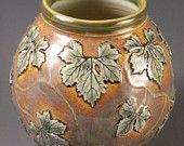 leaf vase, porcelain