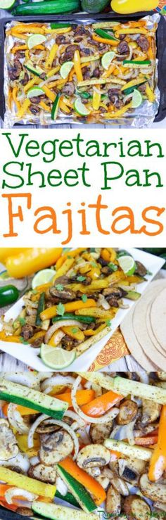 20 Minute Meal! Portobello Mushroom Vegetarian Sheet Pan Fajitas