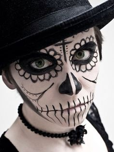 Dia De Los Muertos, black with hat