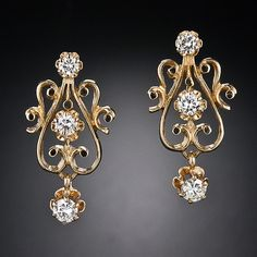 Victorian Revival Diamond Earrings-I will have this for Xmas pse
