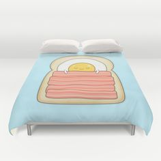 Buy ultra soft microfiber Duvet Covers featuring bed and breakfast by kim vervuurt. Hand sewn and meticulously crafted, these lightweight Duvet Cover vividly feature your favorite designs with a soft white reverse side.